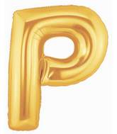 "7"" Airfill (requires heat sealing) Letter Balloons P Gold"