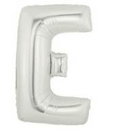 "14"" Airfill (requires heat sealing) Letter Balloon E Silver"