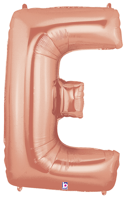 "40"" Foil Shape Megaloon Balloon Letter E Rose Gold"