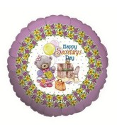 "18"" Happy Secretary&#39s Day Mylar Balloon"