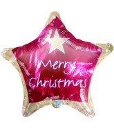 "18"" Merry Christmas Red with Gold Border Balloon"