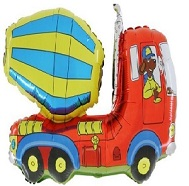 "36"" Cement Mixer Truck Balloon"