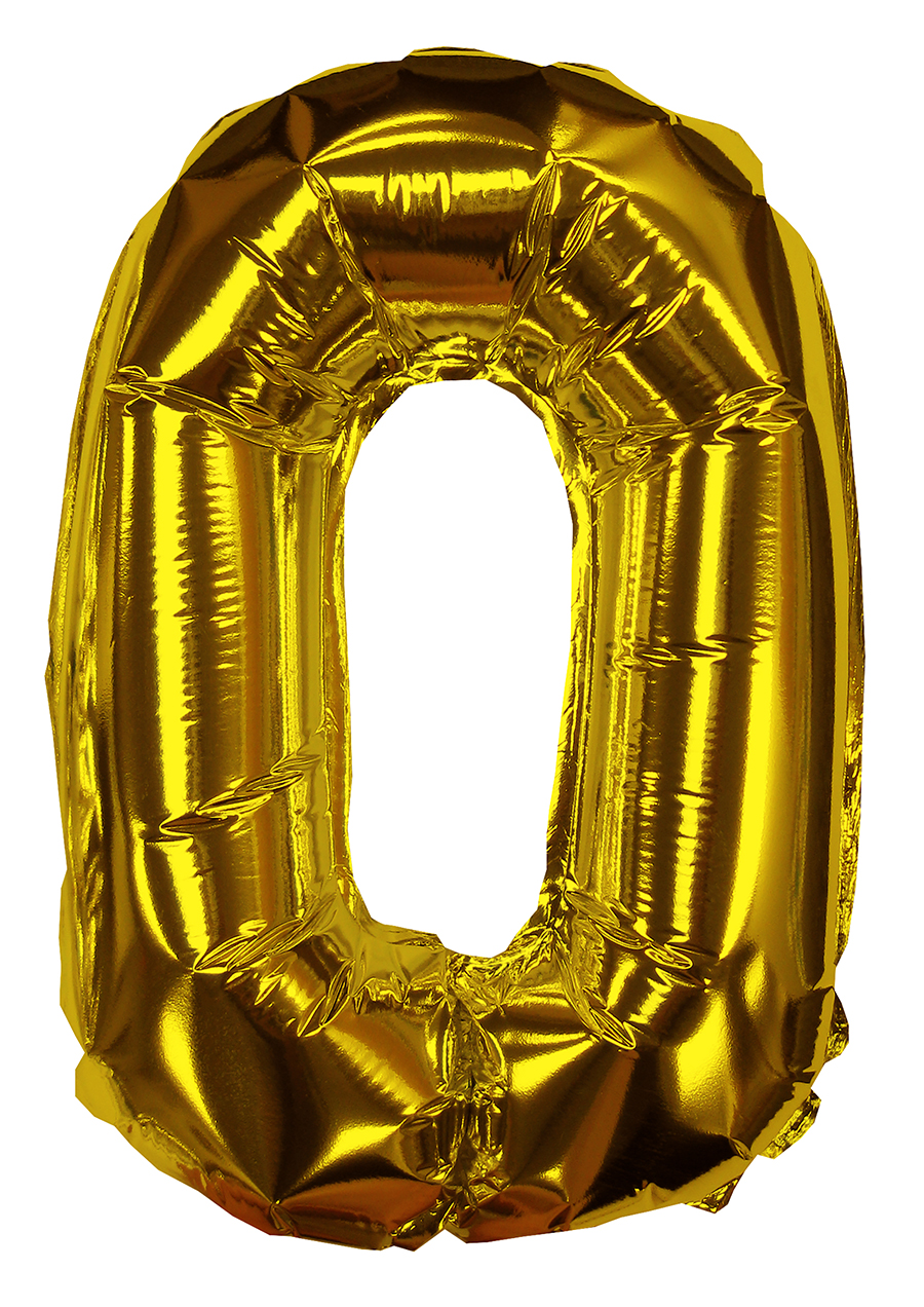 "8"" Gold #0 Shape Self Sealing Valve Foil Balloon"