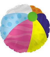 "18"" Round Beach Ball Foil Balloon"
