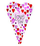 "22"" Love You Skinny Heart Foil Balloon"
