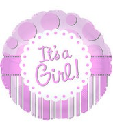 "18"" It&#39s A Girl Foil Balloon"