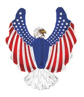 "12"" Airfill Only Patriotic Eagle Shape-A-Loon Balloon"
