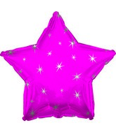 "18"" Hot Pink Sparkle Star Foil Balloon"