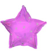 "18"" Pink Sparkle Star Foil Balloon"