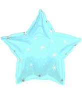 "18"" Powder Blue Sparkle Star Foil Balloon"