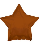 "9"" Airfill Only Brown Star Foil Balloon"
