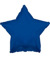 "9"" Airfill Only Navy Blue Star Foil Balloon"
