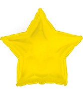 "9"" Airfill Only Yellow Gold Star Foil Balloon"
