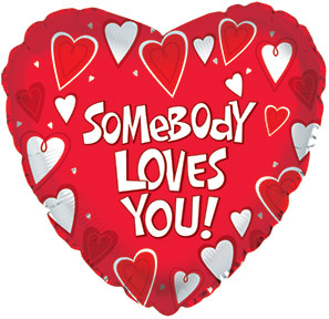 "18"" Somebody Loves You Mylar Balloon"