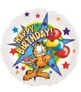 "18"" Happy Birthday Garfield With Cupcake Foil Balloon"