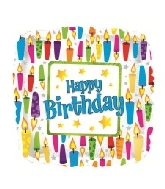 "18"" Happy Birthday Lots Of Candles Foil Balloon"