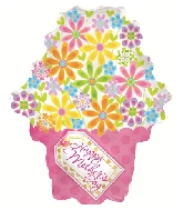 "22"" Happy Mother&#39s Day Bouquet Foil Balloon"