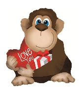 "22"" Monkey With Blue Eyes Shape Foil Balloon"