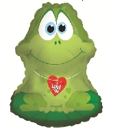 "22"" I Love You Floating Frog Foil Balloon"