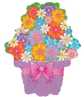 "22"" Bright Flowers Foil Balloon"