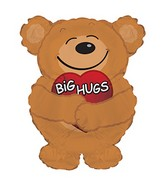 "12"" Airfill Only Big Hugs Bear Balloon"