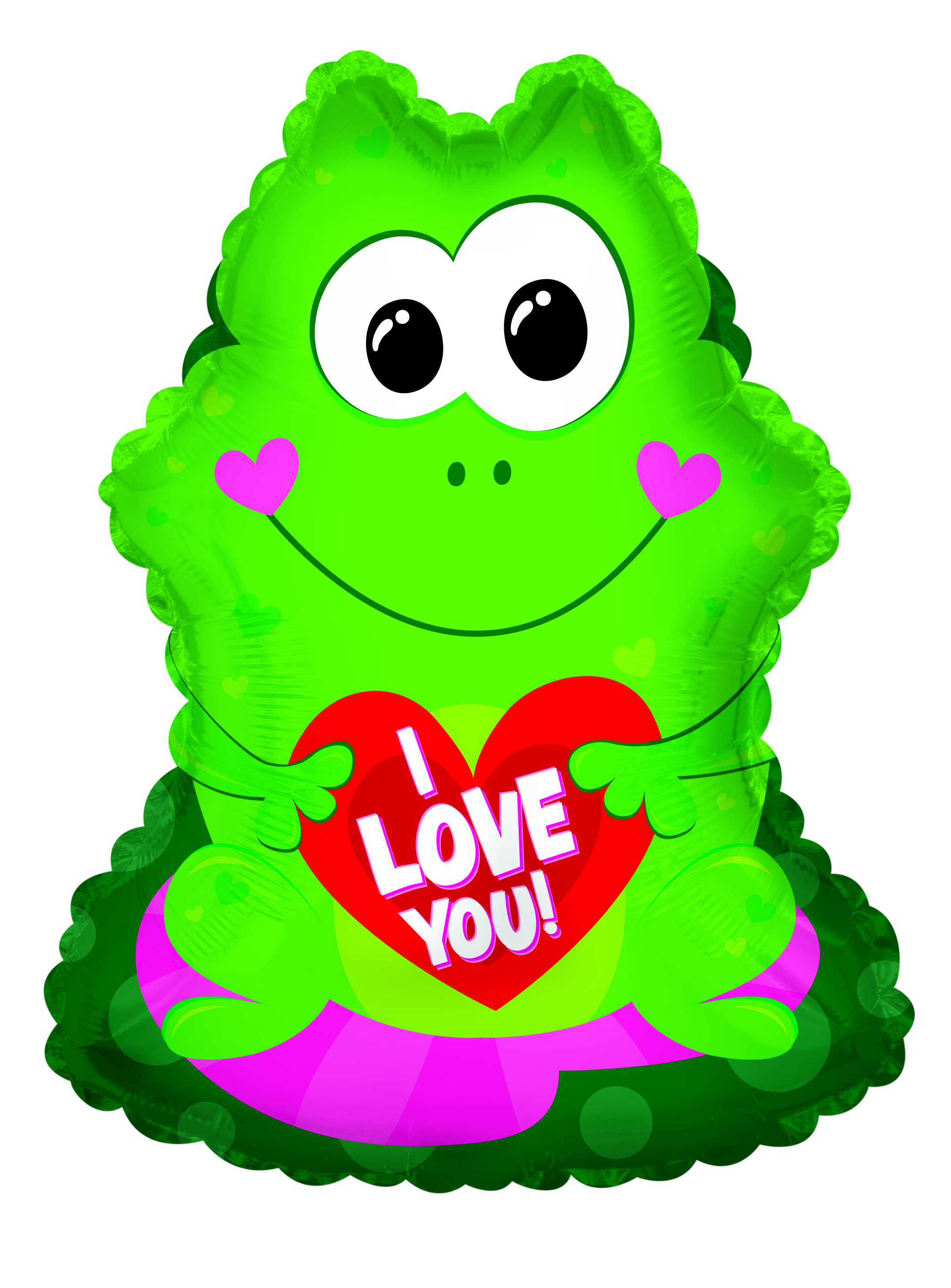 "22"" I Love You Frog Foil Balloon"