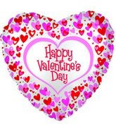 "17"" Happy Valentine's Day Dancing Hearts Foil Balloon"