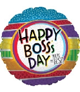 "17"" Best Boss Stripes Balloon"