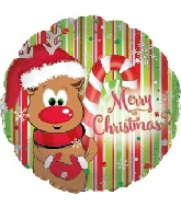 "17"" Reindeer Merry Christmas Balloon"