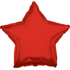 "22"" Red Star Balloon"