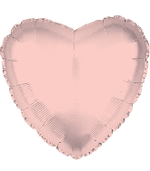 "17"" Rose Gold Heart Balloon"