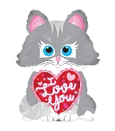 "10"" I Love You Cat Balloon"