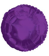 "9"" Airfill Only Purple Circle Balloon"