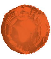 "17"" CTI Bittersweet Metallic Orange Circle Balloon"