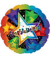 "17"" Congratulations 3-D Stars N Balloon"