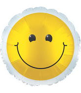 "17"" Yellow Smiley Balloon"