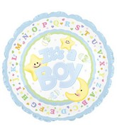 "18"" It&#39s a Baby Boy Star and Moon Box109"