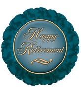 "17"" Happy Retirement Green Packaged"