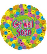 "18"" Get Well Soon Smiley Faces Box75"