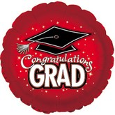"18"" Congratulations Grad Red"