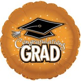 "18"" Congratulations Grad Orange"