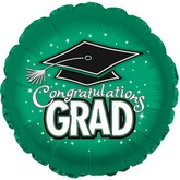 "18"" Congratulations Grad Green"