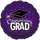 "18"" Congratulations Grad Purple"