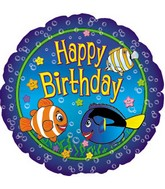 "18"" Happy Birthday Fish"