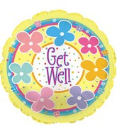 "18"" Get Well Pastel Flowers  Box105"