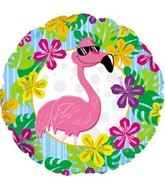 "18"" Flamingo Luau Balloon"