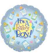 "18"" It&#39s a Baby Boy Bottles Box93"