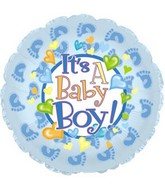 "18"" It&#39s a Baby Boy Feet Box126"