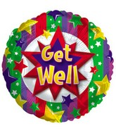 "18"" Get Well Colorful Burst Box79"
