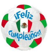17&#39&#39 Feliz Cumpleanos Soccer Ball Packaged